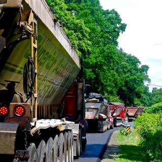 Trucks on Whitneyville Road Project