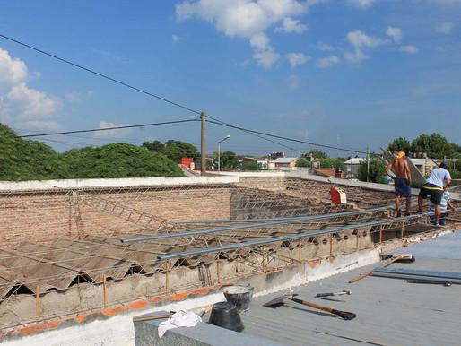 Cambio del techo en la Escuela Nº 3
