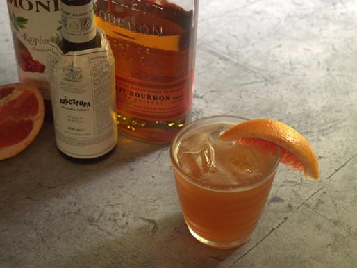 Ruby Bourbon Sour Cocktail