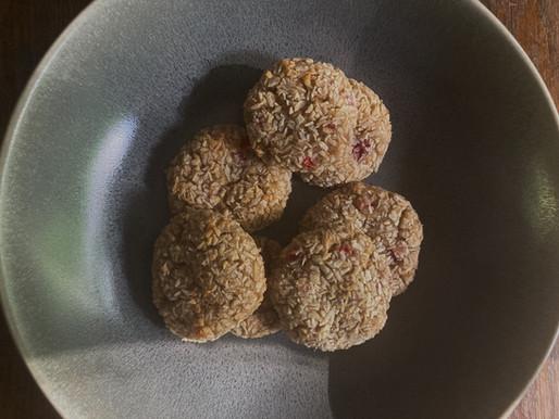 Strawberry Coconut Vanilla Cookies