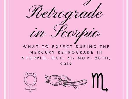 Mercury Retrograde in Scorpio 2019