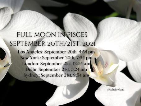 Full Moon in Pisces on Monday September 20th, 2021