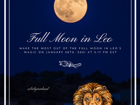 Full Moon in Leo on January 28th, 2021