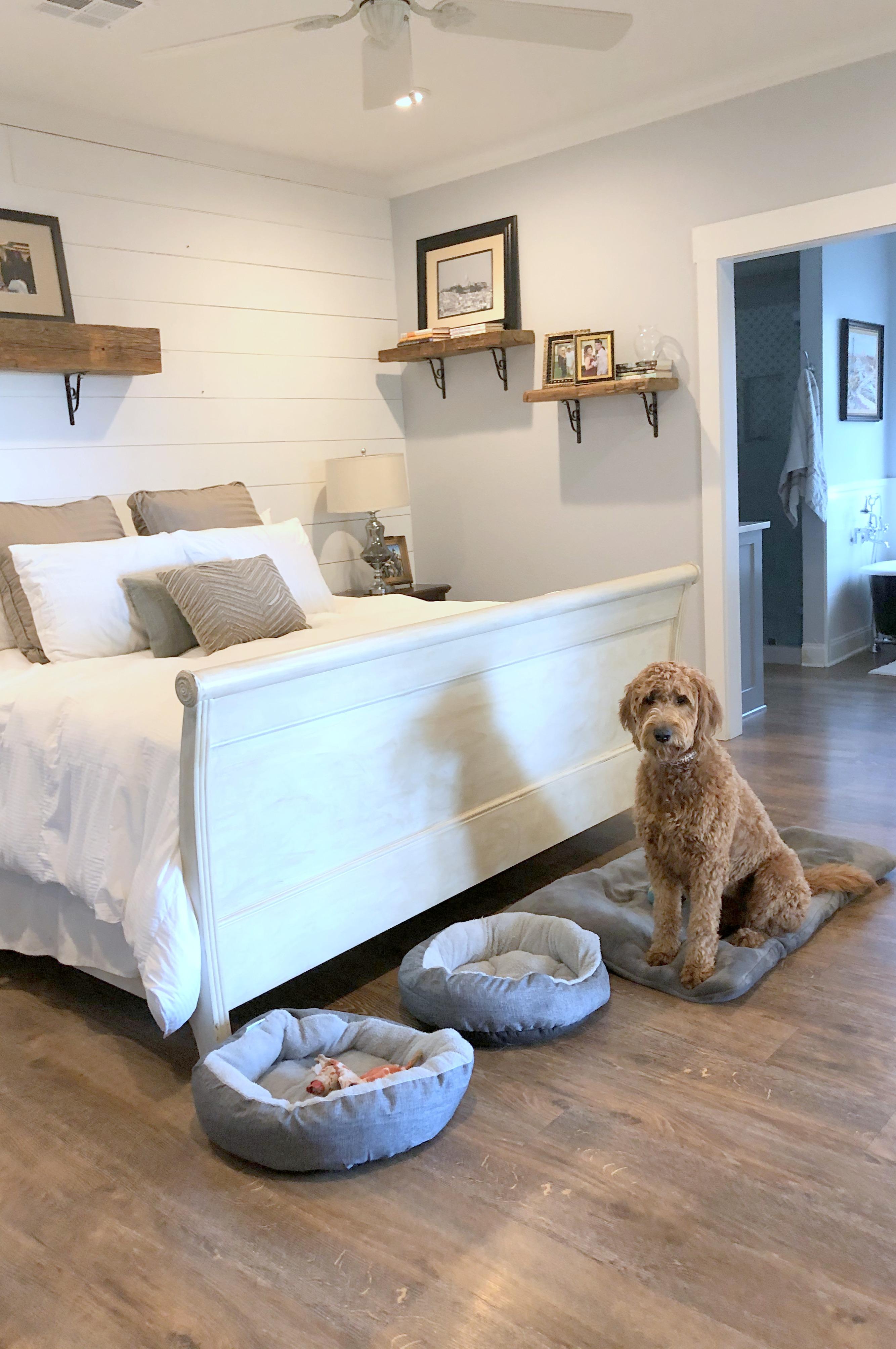 Mila in bedroom