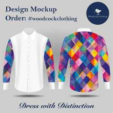 Shirt Mock up - Sqaure Multicolour Desig