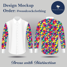 Shirt Mock up - Triangle Multicolour Des