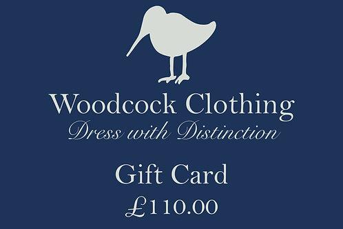 Gift Card - £110.00