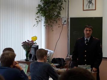 25 октября 2018 года сотрудники ЛО МВД России провели мероприятие по профессиональной ориентации вып