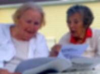 Seniors with Dementia Reading