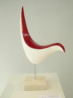 Oiseau dos rouge