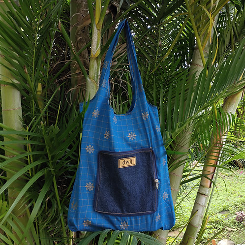 Shopping Bag- Peacock Blue