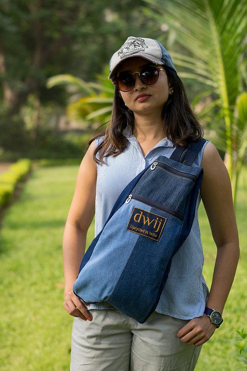 Cross Body Dual strap Backpack