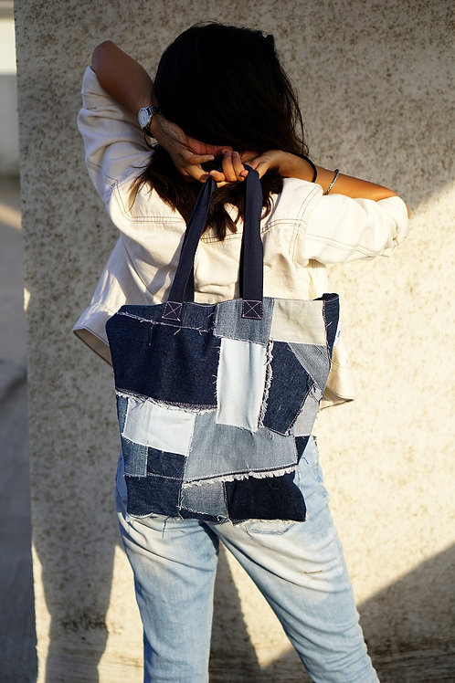 Patched Tote