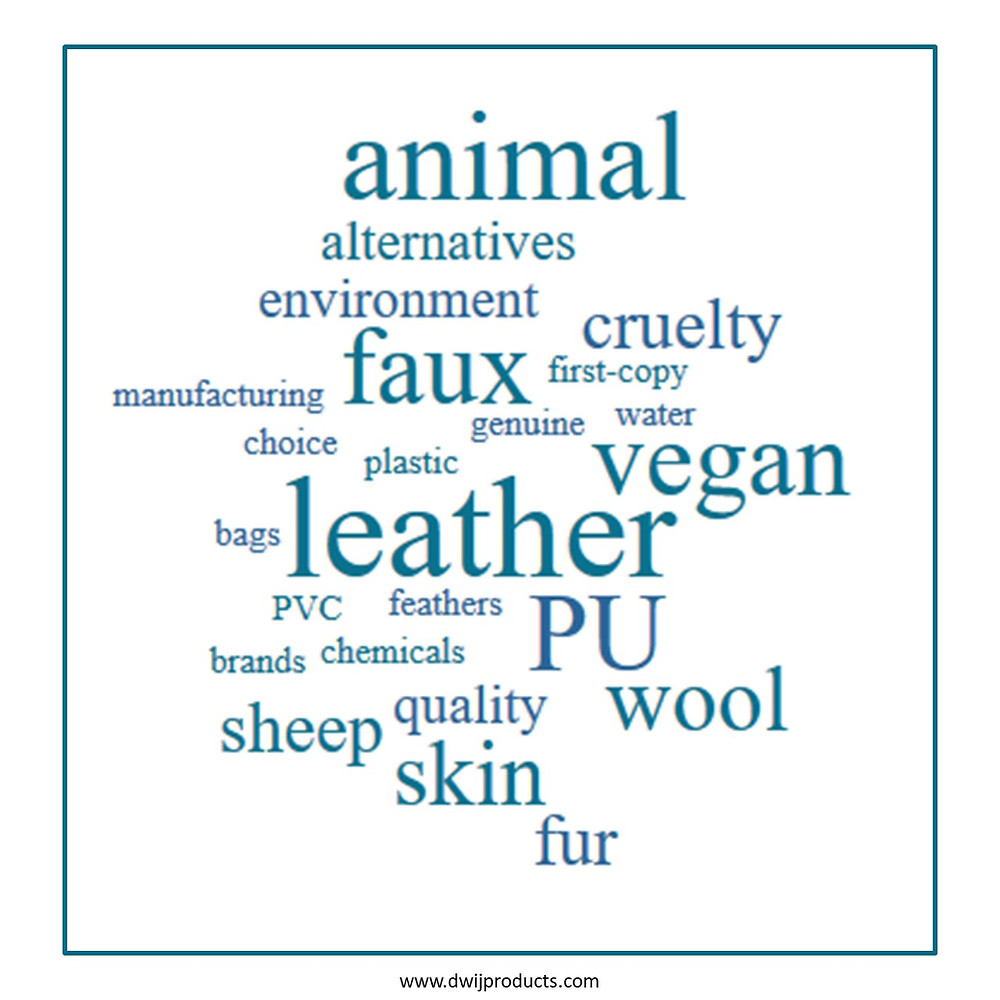 Animal leather, PU leather, faux leather, synthetic leather, artificial leather, vegan leather, fake leather.