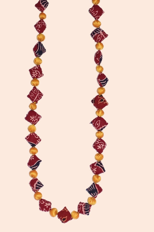 1 set fusion necklace - Red
