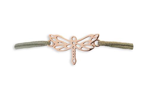 LIBELLEN Armband * rosé / Bandfarbe: hellgrau (taupe)