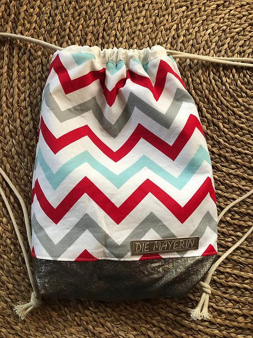 Rucksackbeutel 'Stripes' - Einzelstück