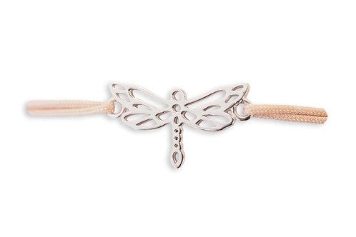 LIBELLEN Armband * silber / Bandfarbe: nude