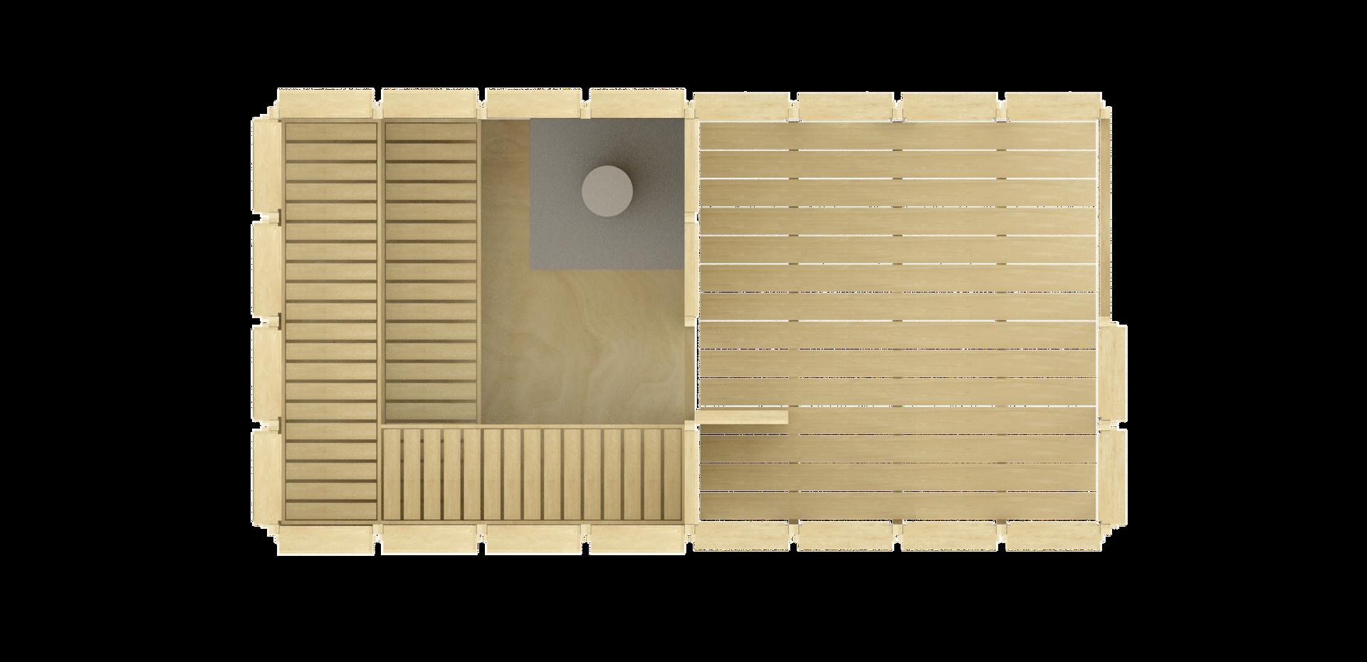 Sauna SVÍTÁNÍ s odpočívárnou