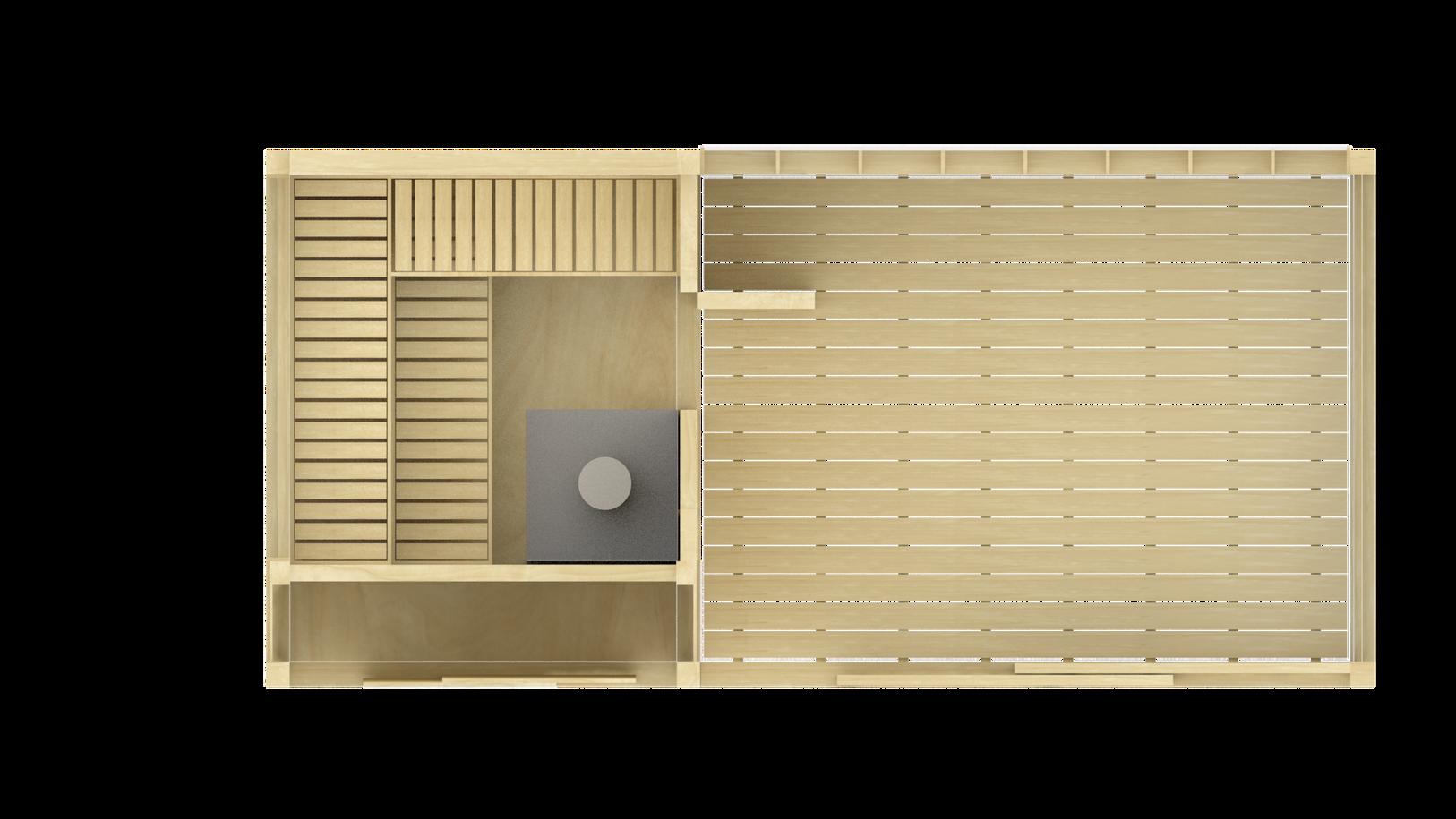 Sauna ZEN s odpočívárnou a skladem