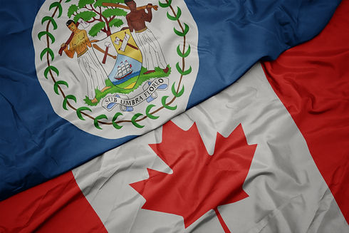waving colorful flag of canada and natio