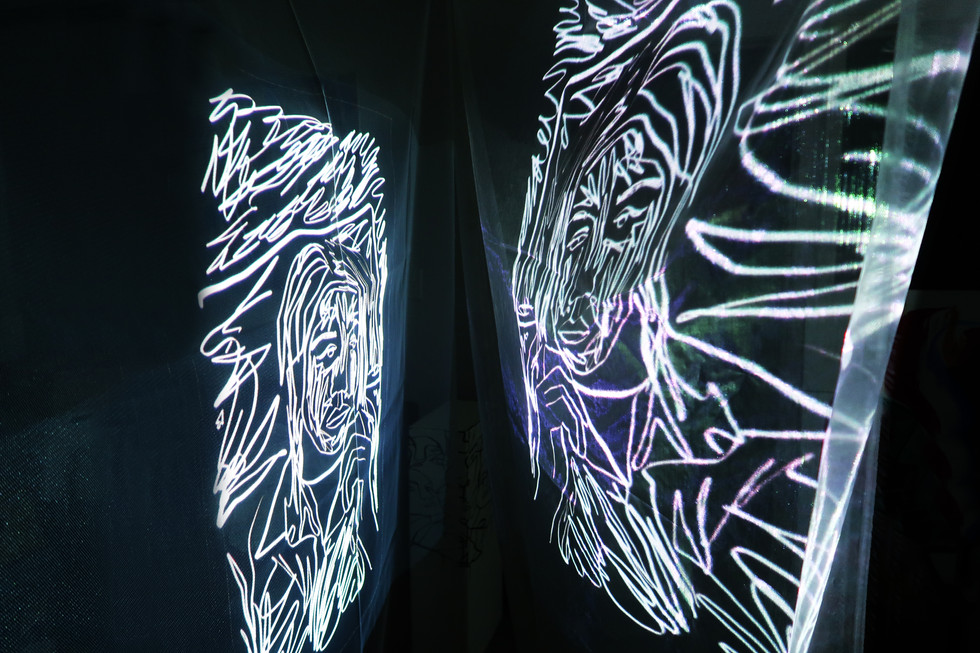 Projection on fabric