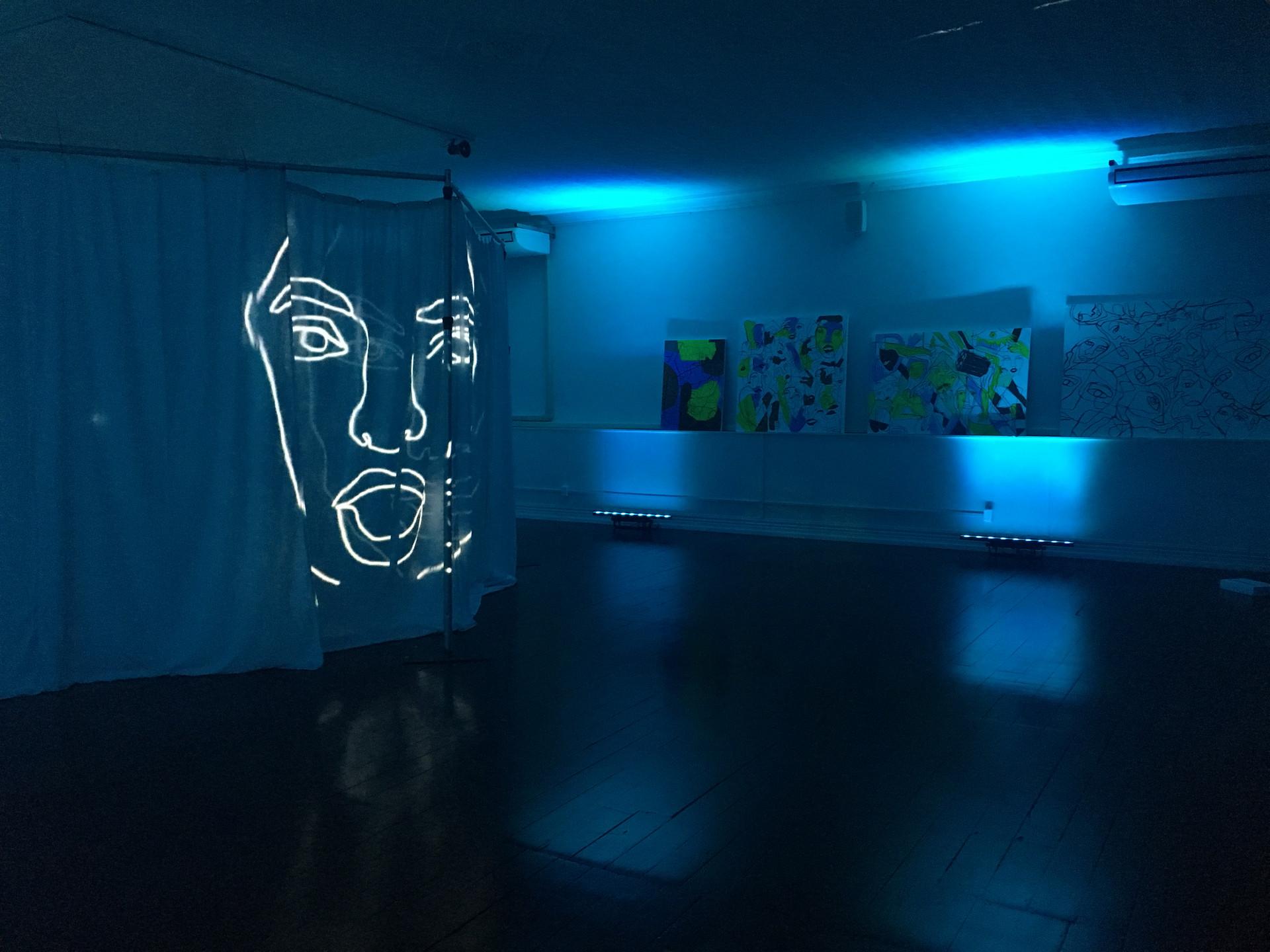 Light Projection Installation