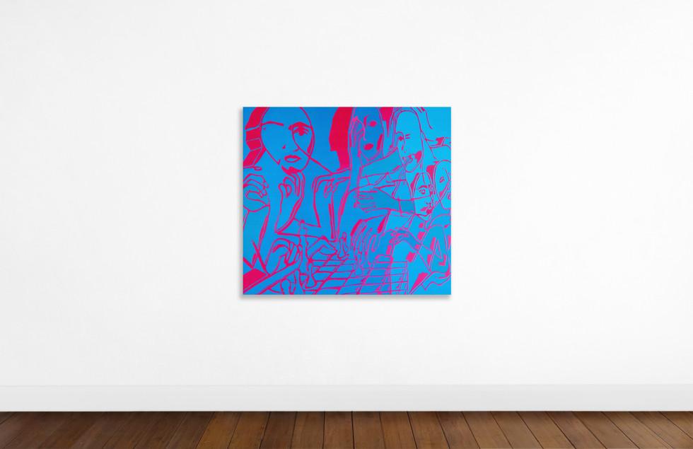 Inverting II, 1400mm x 1200mm, Acrylic on Canvas