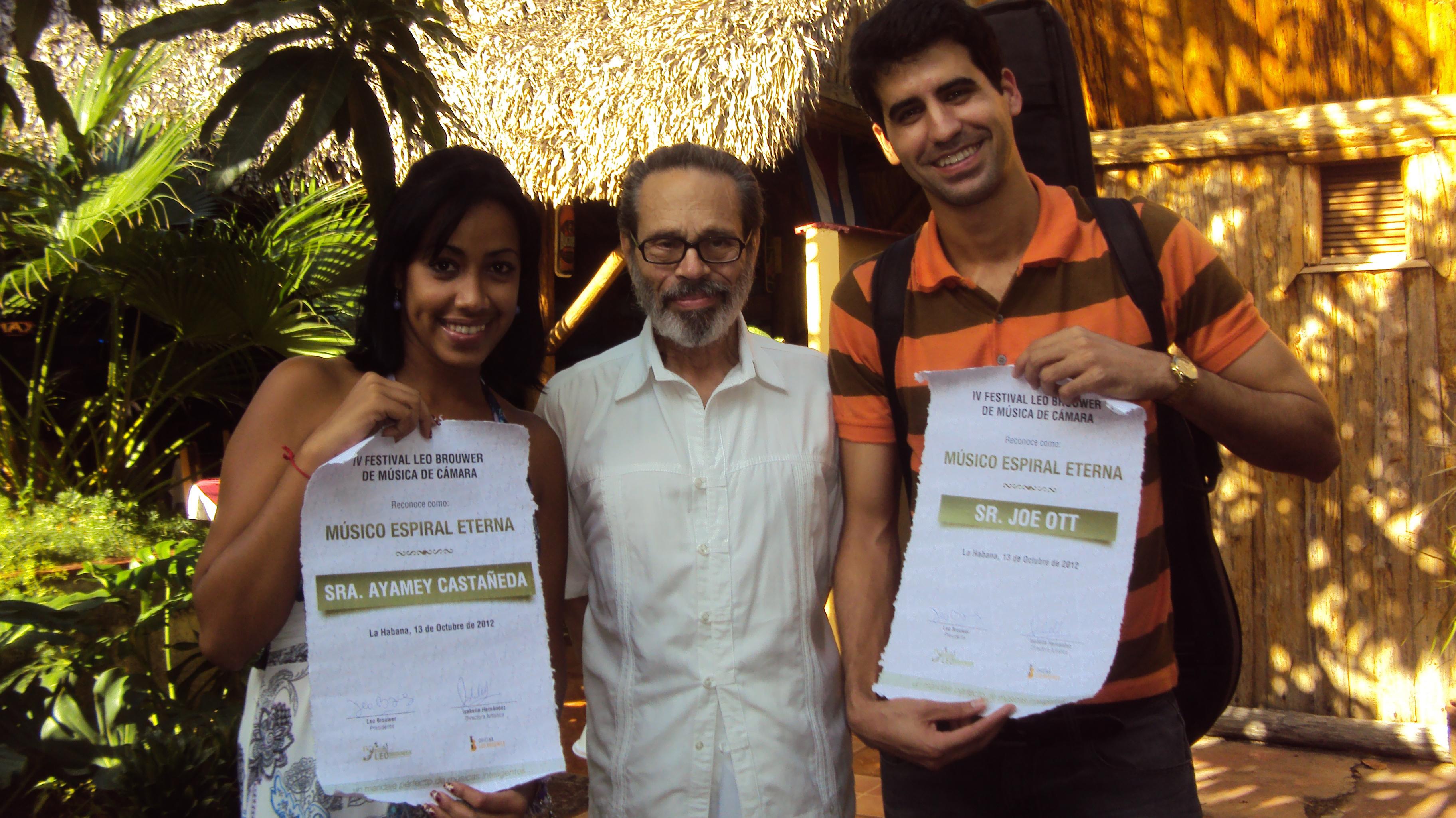 Recibiendo el Premio Músico Espiral