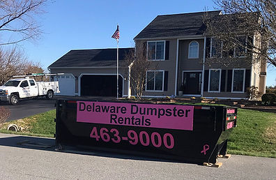 Dumpster rental at Residential Home