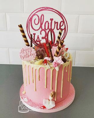 30th Pink Lady Drip Cake.jpeg