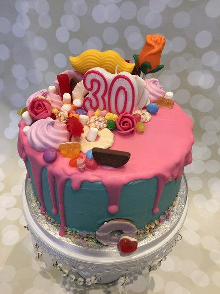 Candy Junkyard Drip Cake