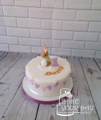 Bunny & Bunting Cake