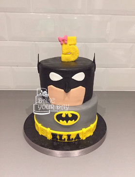 Caped Crusader Cake