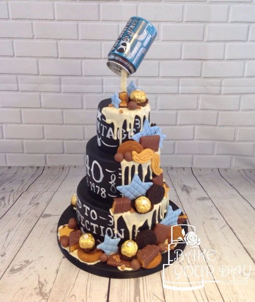 Beer Drip Junkyard Cake
