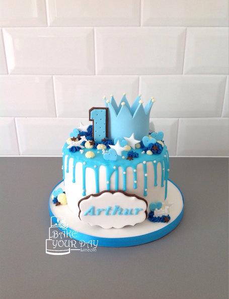 Blue Prince Drip Cake