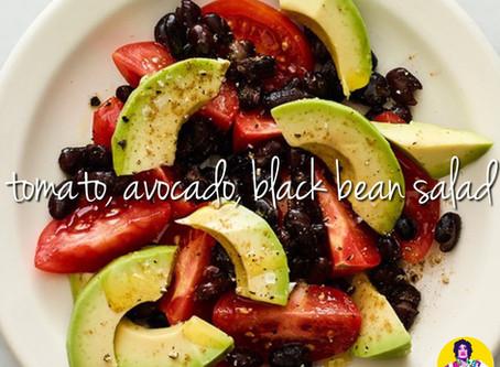 Tomato, Avocado, Black Bean Salad