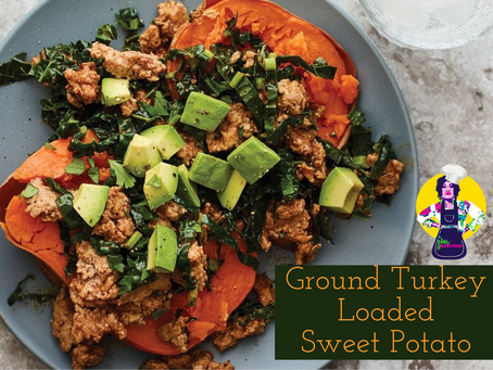Ground Turkey Loaded Sweet Potato