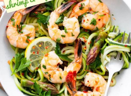 Shrimp & Asparagus Zoodles