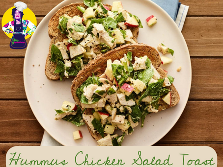 Hummus Chicken Salad Toast