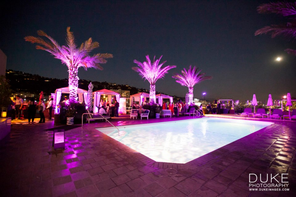 wedding reception pool