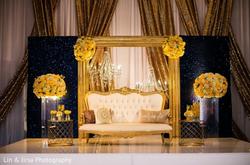 couple seating indian wedding