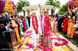 just married indian wedding