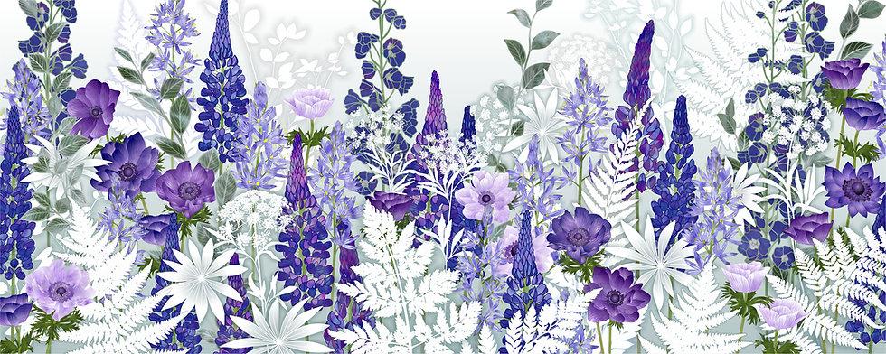 Daydream in Blue Floral Art Print