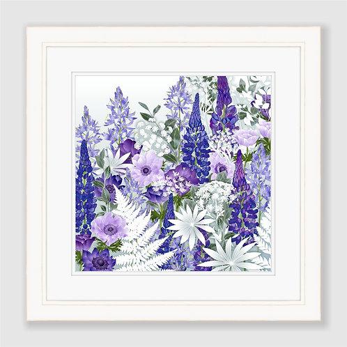 Daydream in Blue (Square) Print