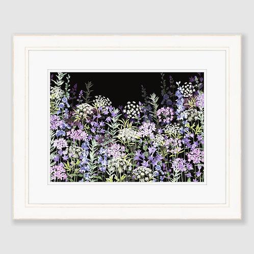 Midnight Floral Symphony (Landscape) Print