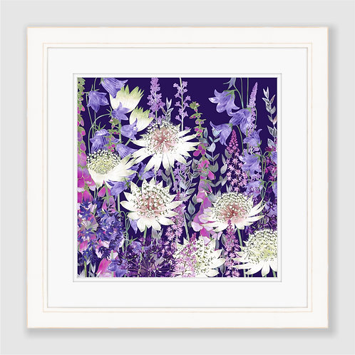 Midnight Garden of Wonder (Square) Print