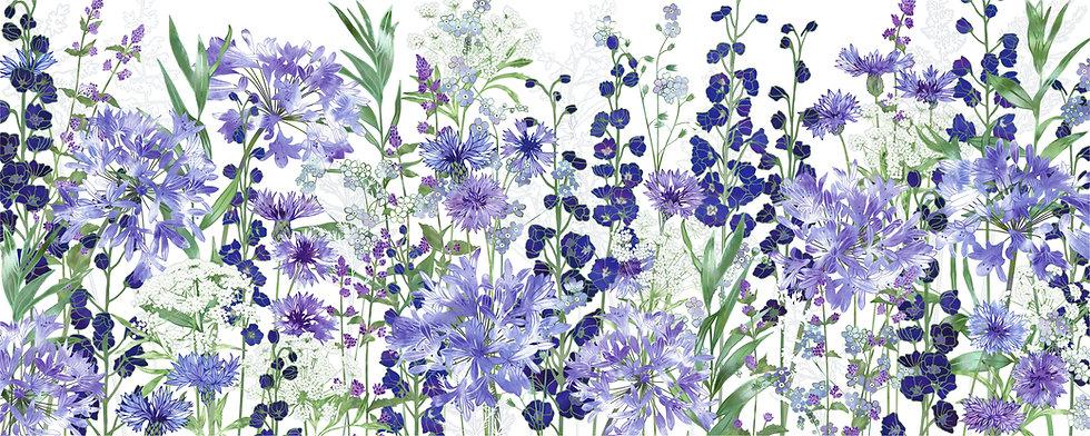 Agapanthus Meanderings Floral Art Print