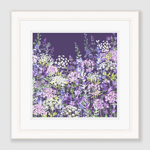 Dusky Floral Symphony (Square) Print