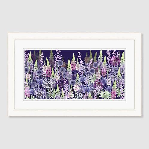 Midnight Flower Dance (Landscape) Print
